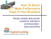 How to Avoid the 7 Performance Traps In your Business