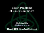 Seven problems of Linux Containers