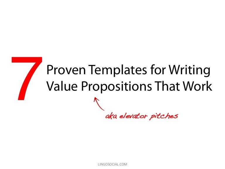 Proven Templates For Writing Value Propositions That Work