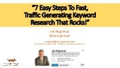 The 7-Step SEO Keyword Research Process By Jon Rognerud