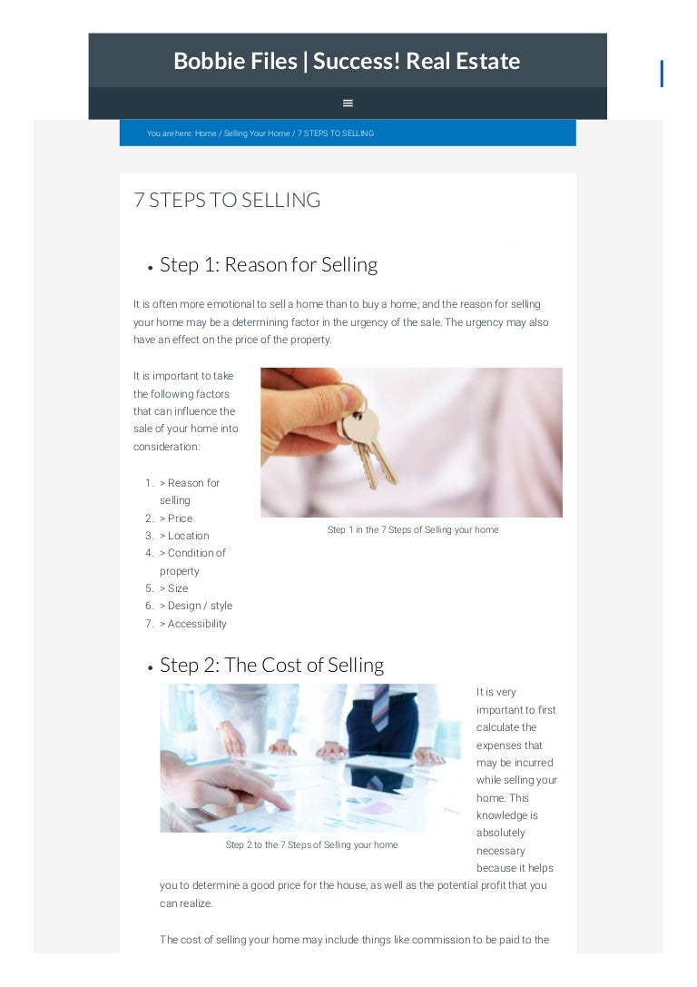 7 Steps to Selling Your House foto