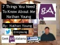 The 7 Things You Need To Know About Me Nathan Young