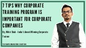 Best 7 Reasons Why Corporate Training Program is Important For Corporate Companies