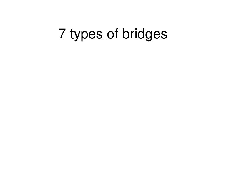 7 Types Of Bridges