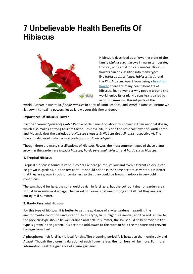 7 Unbelievable Health Benefits Of Hibiscus