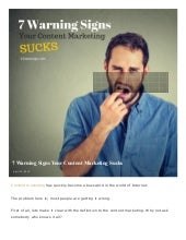 CHECKLIST GUIDE: 7 Warning Signs That Your Content Marketing Sucks