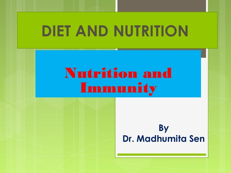 role of nutrition in immunity