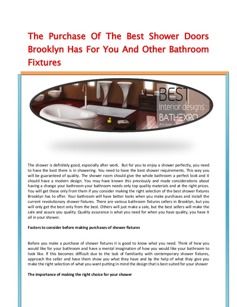 Bathroom Fixtures Brooklyn the purchase of the best shower doors brooklyn has for you and other …