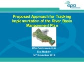 8. Proposed approach for tracking implementation of the RBMP - Eva Mockler, EPA