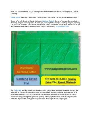 (WA/TELP) 082186148884, Genteng Rumah Sidoarjo, Distributor Wuwung Beton, Distributor Genteng Beton Flat