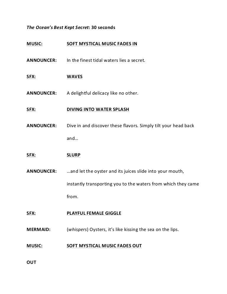 8 radio script