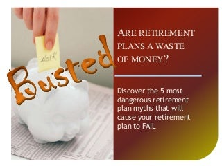 Discover why 95% of Retirement Plans FAIL