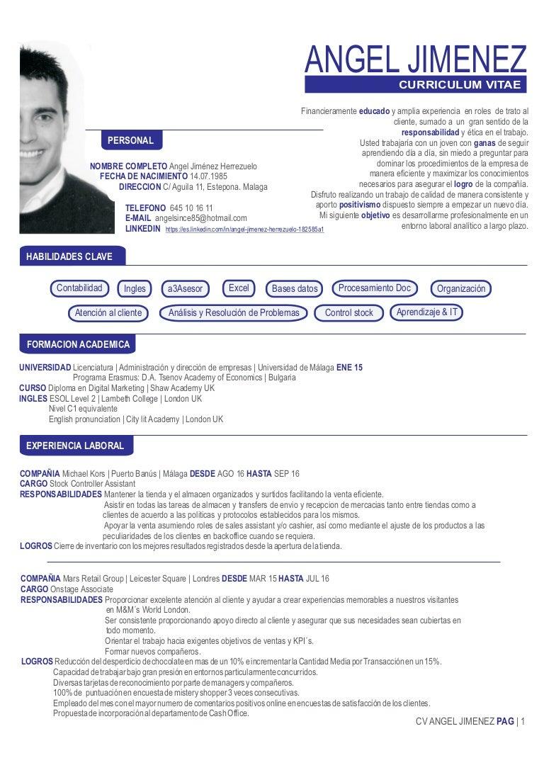 CV ANGEL JIMENEZ ESP