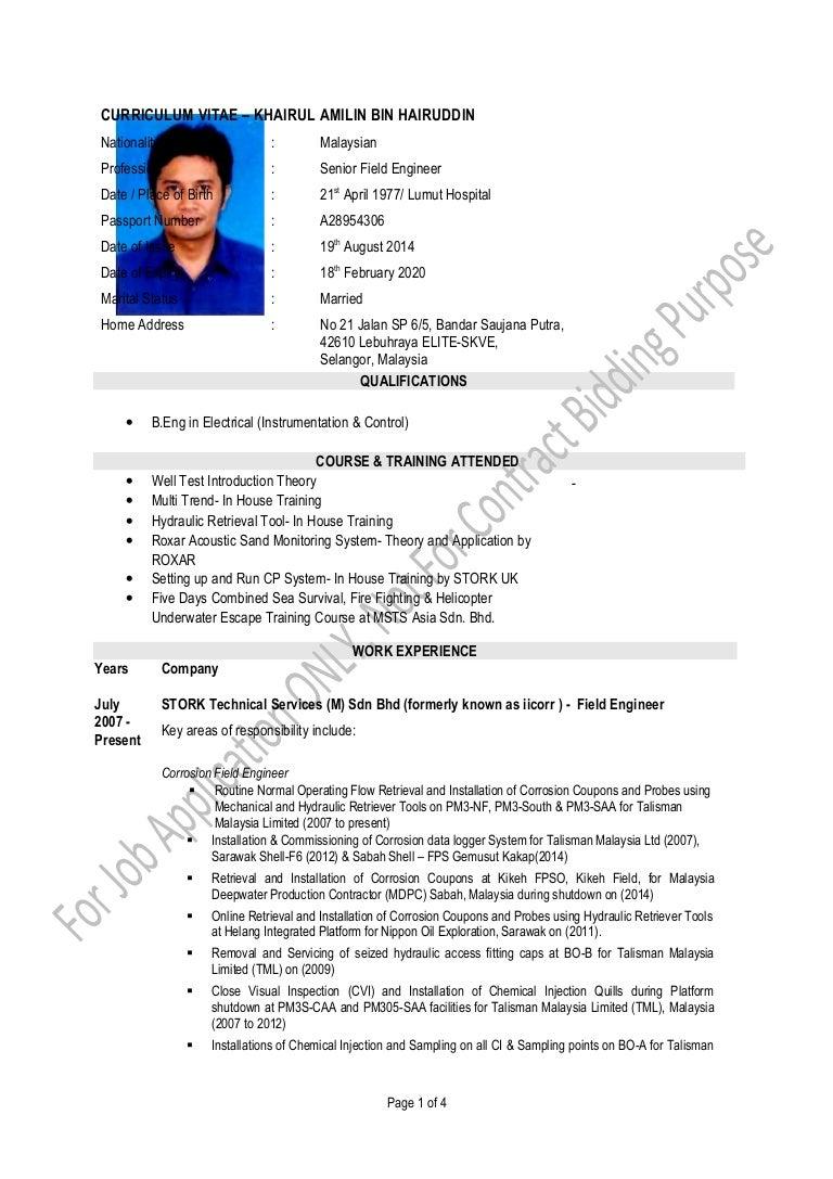 Khairul Amilin CV