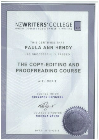Proofreading copy editing