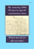 The Amazing 1800s: 80 ways to sign off your business letter.