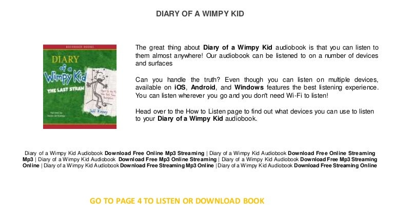 Diary Of A Wimpy Kid Free Books Online Read Audio Books Online