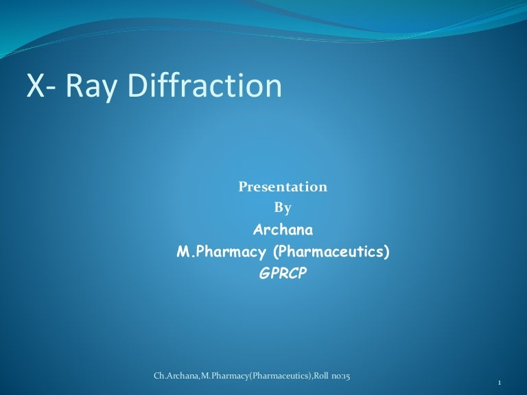 Determination of crystal structures by x-ray diffraction ppt.