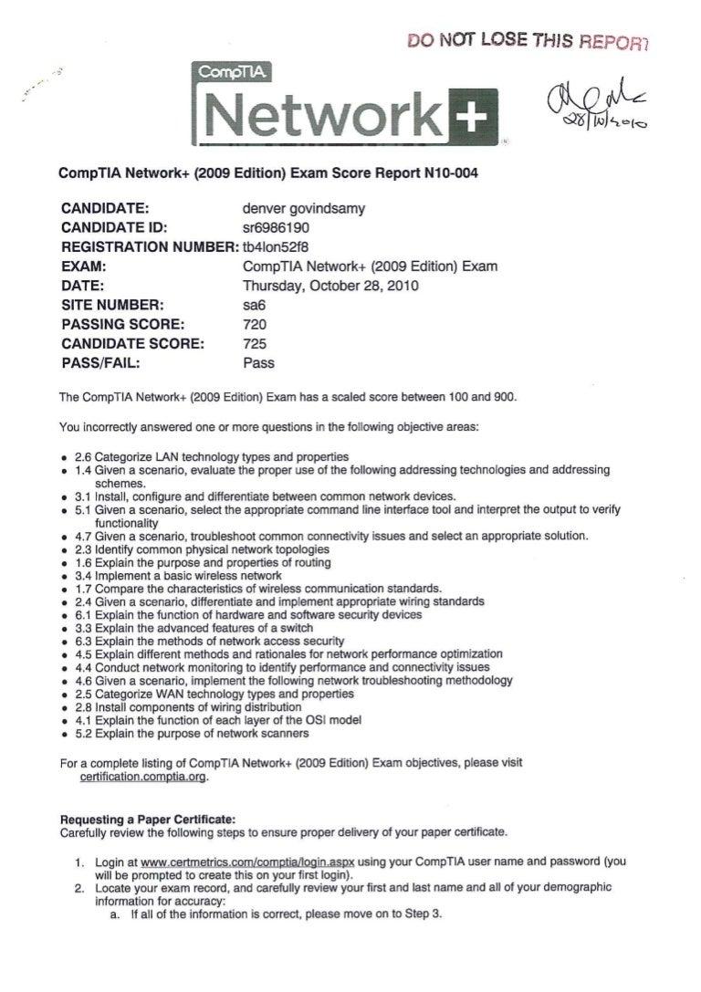 Comptia network exam pass xflitez Choice Image