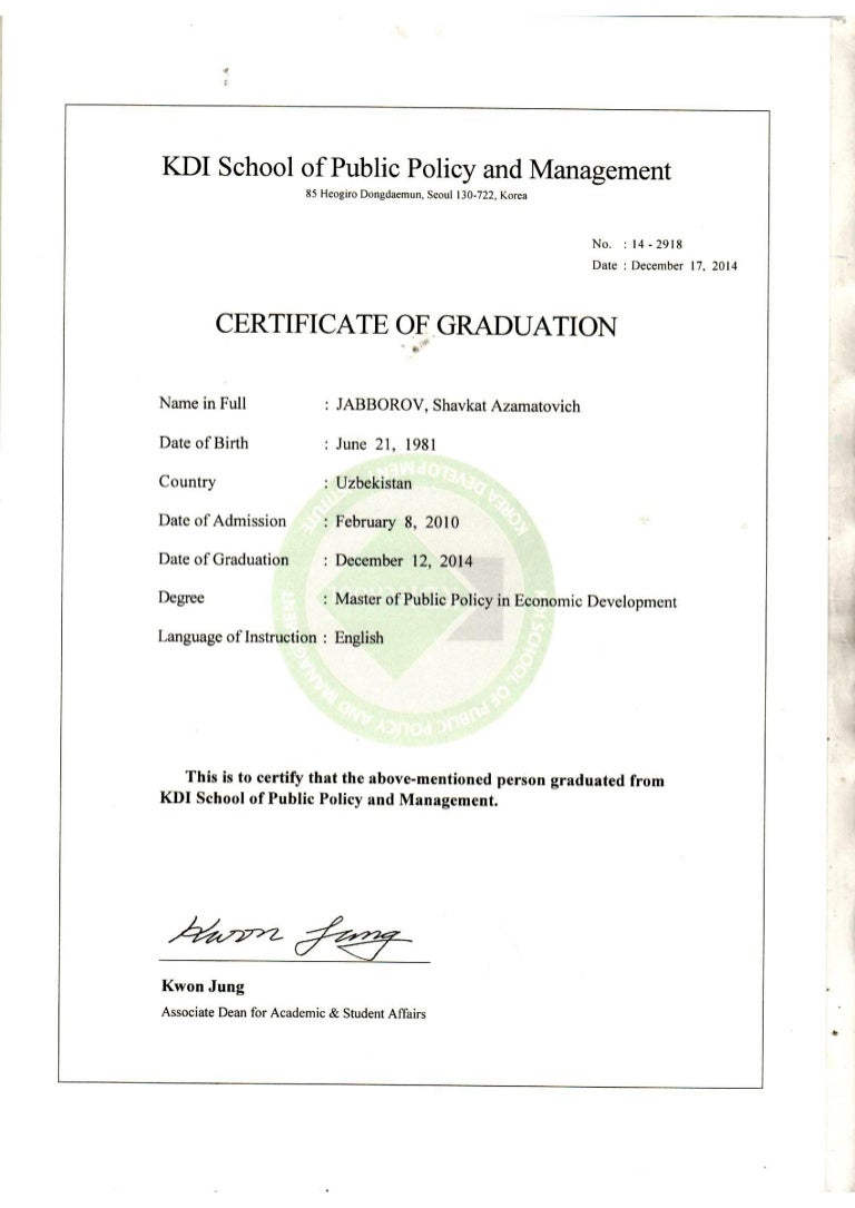 Kdi school certificate of graduation xflitez Images