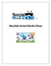 SocialBuzzTV - Monthly Social Media Plans