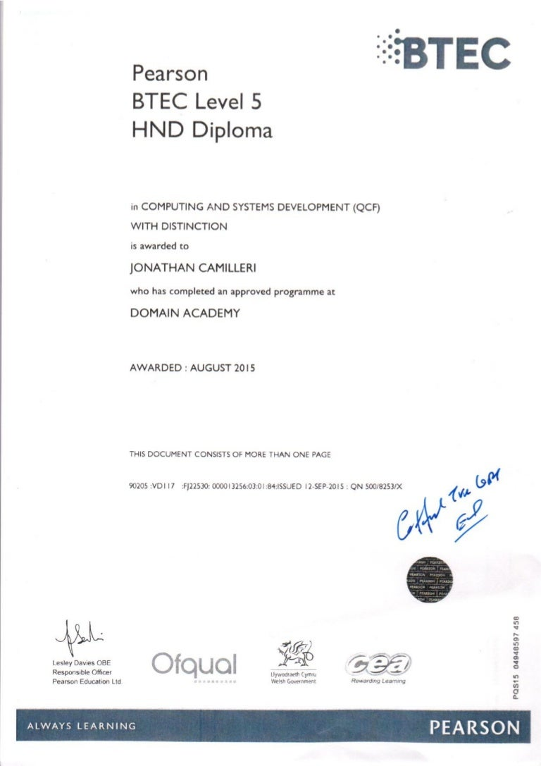 Hnd diploma 1betcityfo Choice Image