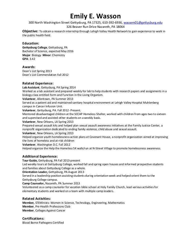 objective for summer internship resume - Ecza.solinf.co