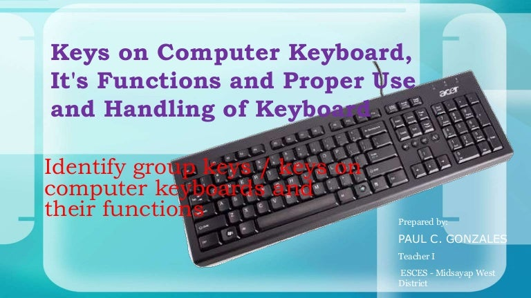 84 identify group keys on the keyboard and their functions
