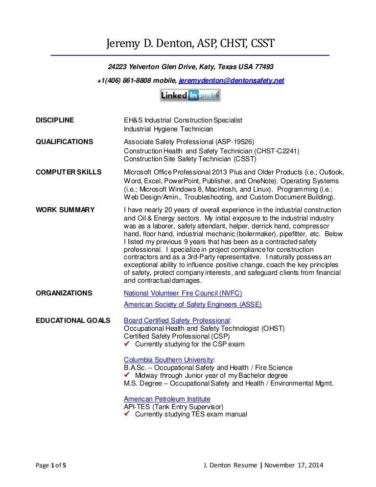 J. Denton Resume 11.17.14