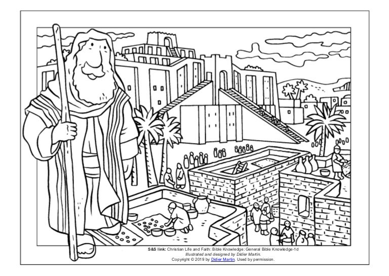 Coloring Page: Cities of the Bible: The City of Ur