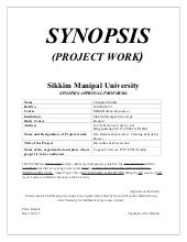Final Project Synopsis MBA