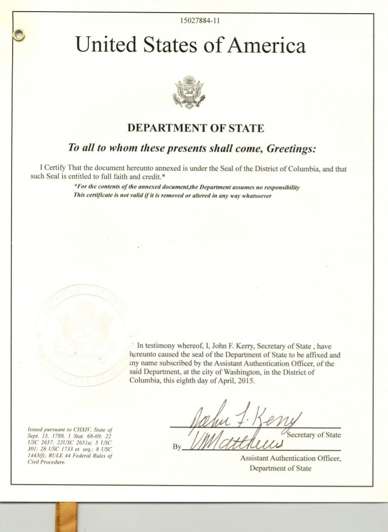 Dos attestation apostille award degree certificate architecture 1betcityfo Image collections