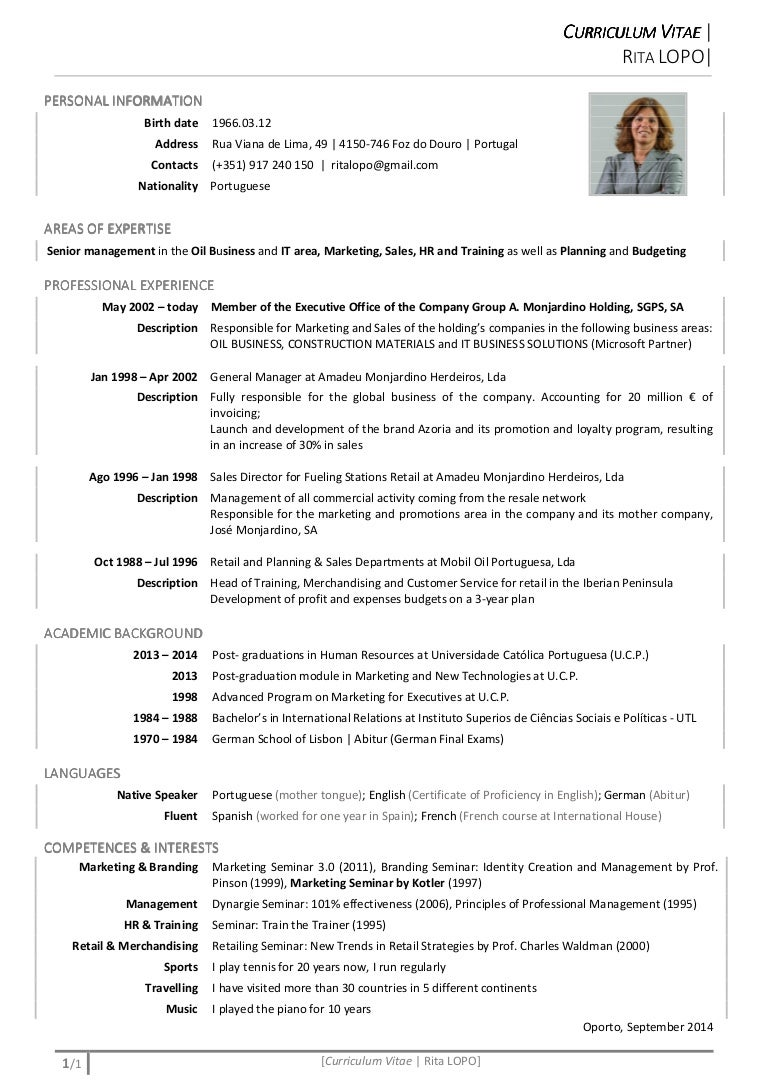 CV Rita LOPO English