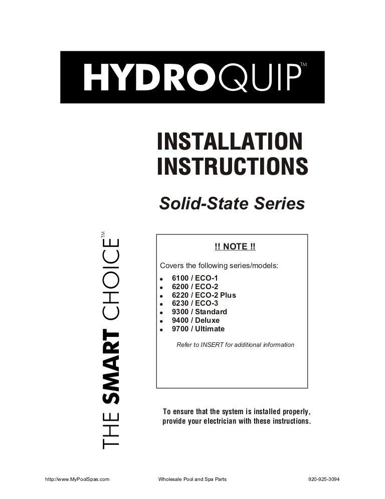 85 0135 a-rev 1_installation manual Balboa Hydro Quip Wiring Diagram on