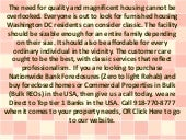 A Fantastic Offer Of Furnished Housing Washington DC Ordinary Residents Would Embrace