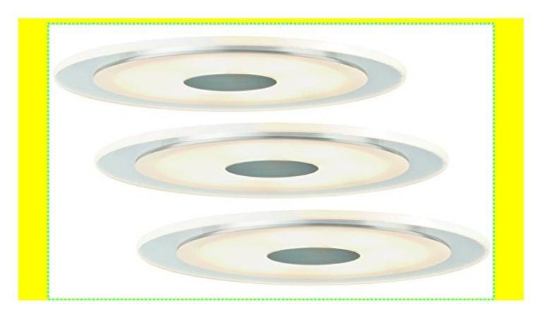 3er Set Paulmann 925.43 Einbauleuchten Premium Line Whirl rund LED Set 3x6W