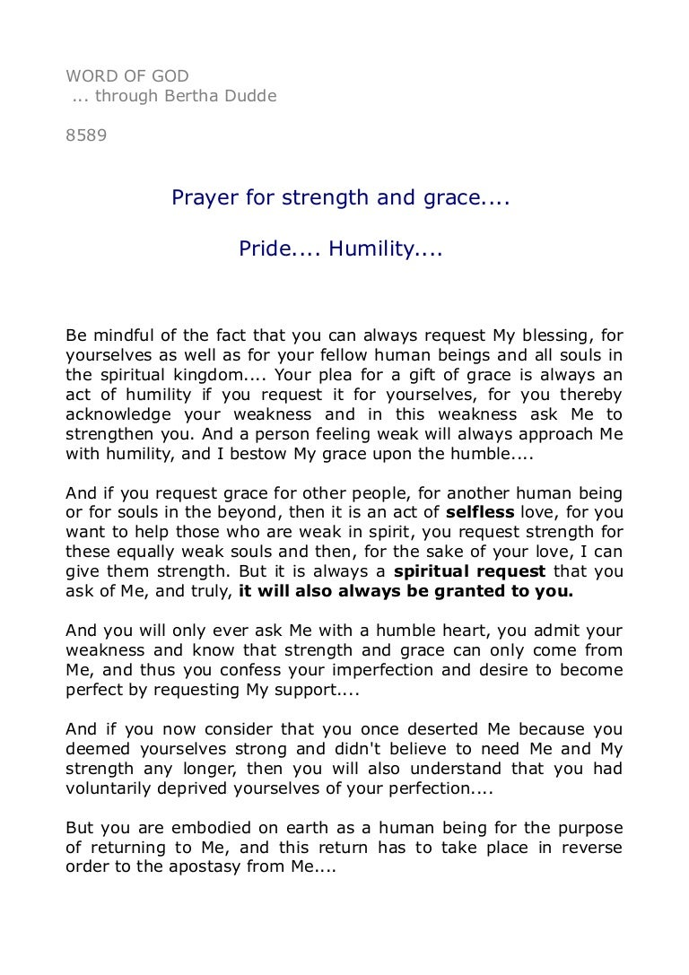 prayer for strength and grace pride humility  8589 prayer for strength and grace pride humility