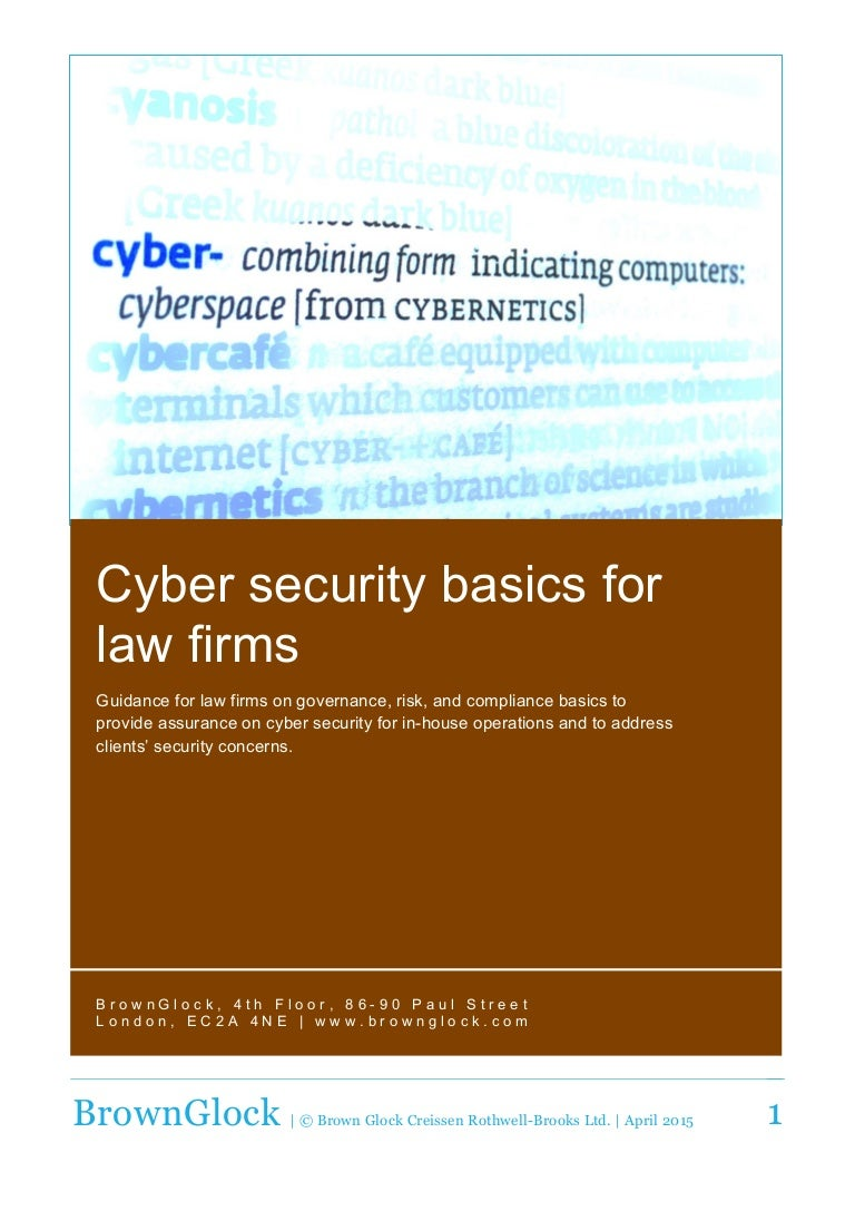 Cyber Security Basics For Law Firms