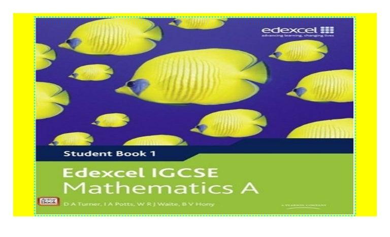 Edexcel Igcse Mathematics A Student Book 1 Edexcel International