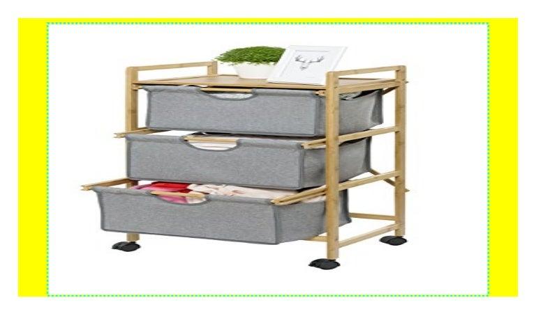 91,5 x 40,4 x 40,4 cm Rollcontainer Schubladenwagen Holz 3 Fächer Walnuss HBT