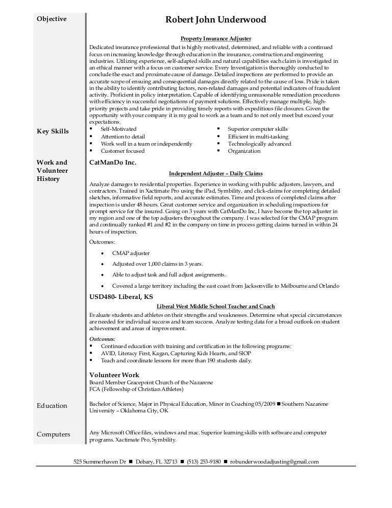 Adjusting resume