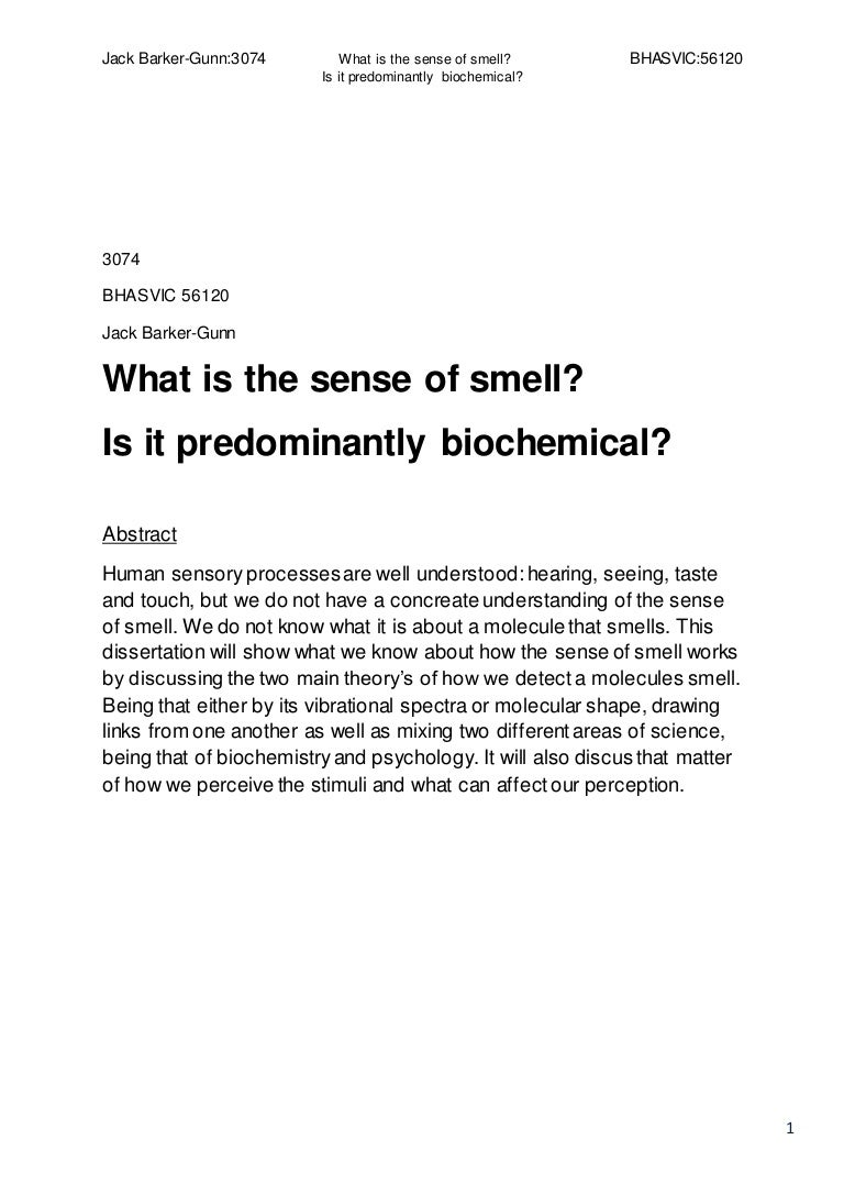 What is smell