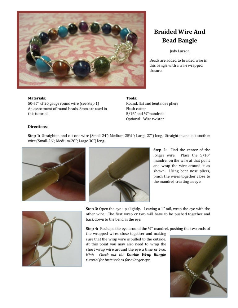 Wire and Bead Braided Bracelet Tutorial