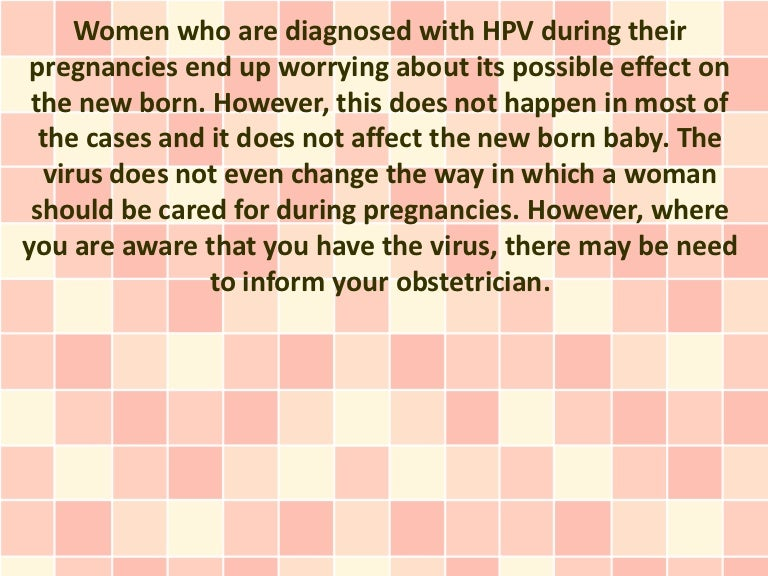 Does hpv virus affect pregnancy