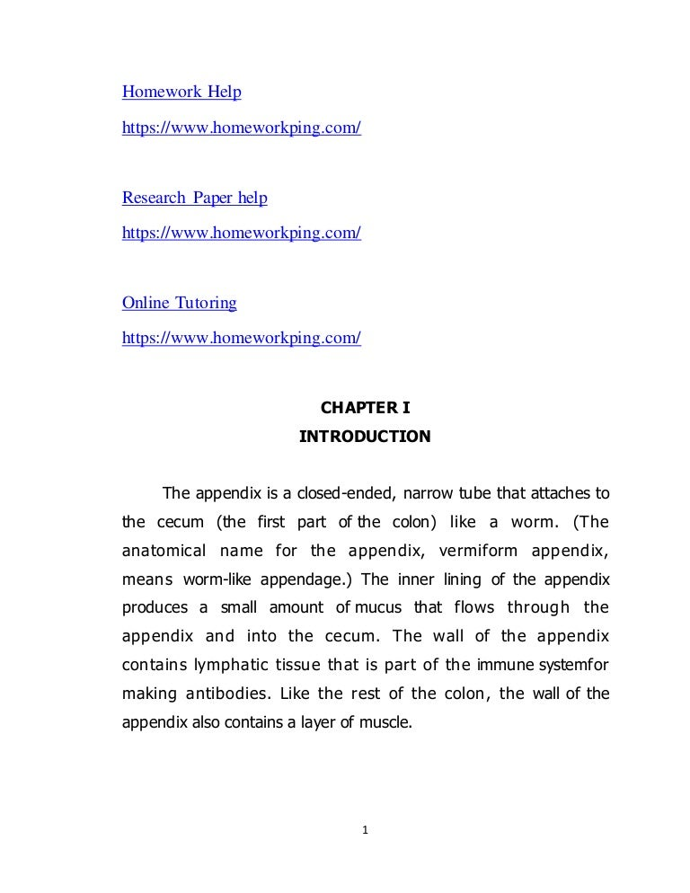appendix section of research paper The research process uncovers what other writers have written about your topic your education paper should include a discussion or review of what is known about the subject and how that knowledge was acquired.