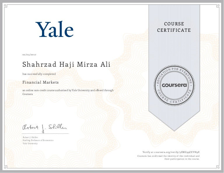 Yale Certificate Programs - Best Design Sertificate 2018