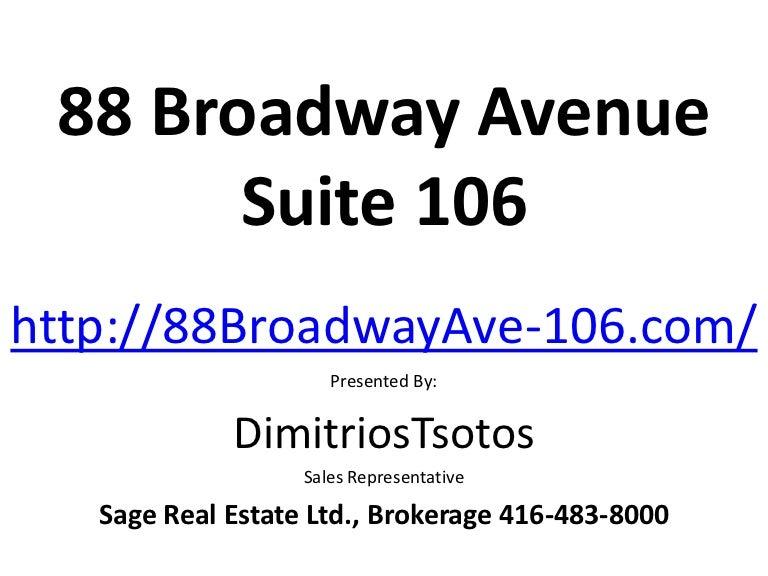 88 Broadway Avenue Suite 106