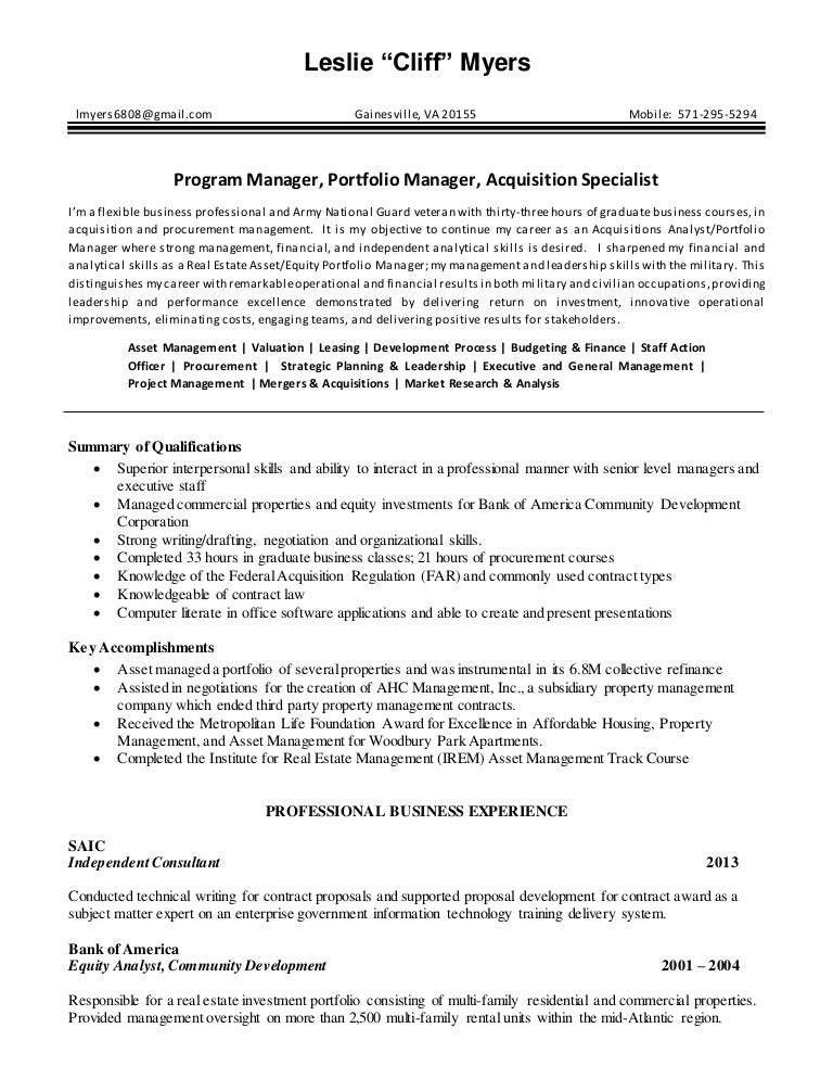 real estate analyst resume 08072015