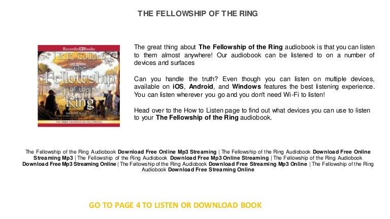 fellowship of the ring stream free
