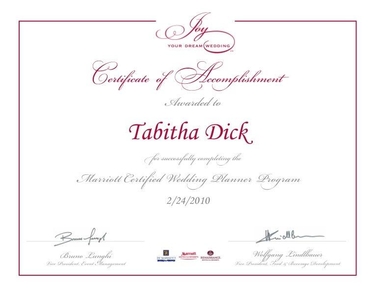 certificate planner